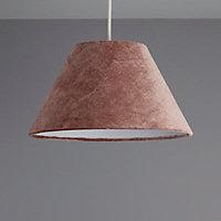 Colours Clain Brown Velvet effect Light shade (D)310mm