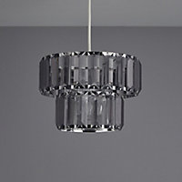 Colours Bayano Smokey Crystal effect Faceted Light shade (D)220mm