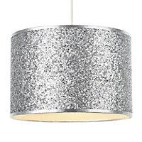 Colours Cirocha Glitter Silver effect Light shade (D)280mm