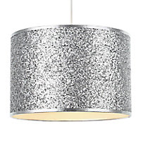 Colours Cirocha Glitter Silver effect Light shade (D)280mm