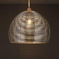 Colours Beloye Silver effect Light shade (D)340mm