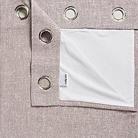 Thornbury Shrewmouse Lined Eyelet Curtains (W)167cm (L)183cm, Pair