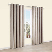 Thornbury Shrewmouse Lined Eyelet Curtains (W)228cm (L)228cm, Pair