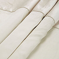 Linnet Limestone Panelled Lined Eyelet Curtains (W)117cm (L)137cm, Pair
