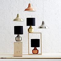 Medes Brass effect Halogen Table lamp base