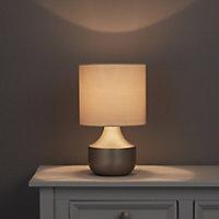 Medes Chrome effect Halogen Table lamp base