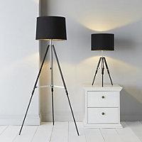 Ofu Black Halogen Floor lamp base