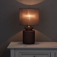 Aitkin Grey Incandescent Table lamp