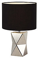 Camia Geometric Chrome effect Incandescent Table lamp