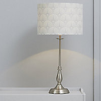 Kennidy Satin Nickel effect Halogen Table lamp base