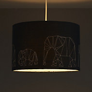 Colours Irwell Denim blue Elephant stitched Light shade (D)300mm