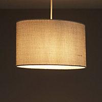 Colours Sadler Grey Metallic effect Light shade (D)300mm