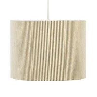 Colours Zadeh Cream Micropleat Light shade (D)200mm