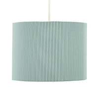 Colours Zadeh Duck egg Micropleat Light shade (D)200mm