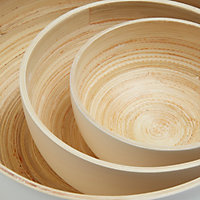 Colours White Lacquered Bamboo Bowl