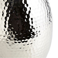 Colours Nickel effect Hammered Aluminium Bottle vase