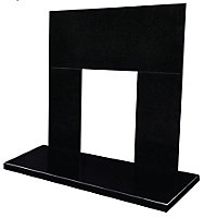 Blyss Blyss Black Granite Back panel & hearth (W)1220mm (D)375mm