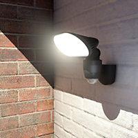 Blooma Pietas Graphite Mains-powered White LED Floodlight