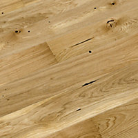 Colours Chamili Oak effect Real wood top layer flooring, Sample