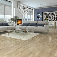 B&Q White Oak effect Real wood top layer flooring, Sample
