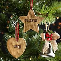 Wood Star Decoration