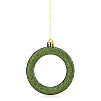 Glitter Green Hoop Decoration