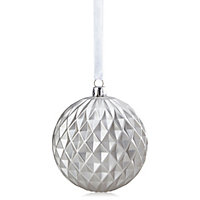 Matt Silver Diamond effect Baubles