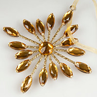 Jewelled Gold effect Snowflake Tree decoration