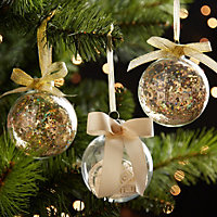 Ribbon Champagne Bauble Tree decoration