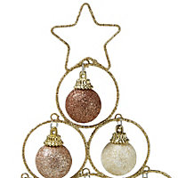 Cream, champagne & gold effect Decorative wire Tabletop tree decoration