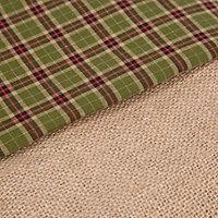 Hessian & green tartan Hessian & tartan Stocking
