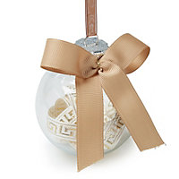 Champagne Clear ribbon Baubles