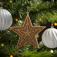 Shiny Gold effect Star Decoration