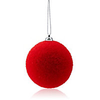 Flocked Red Decoration