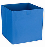 Mixxit Blue 29.7L Non-woven fabric & polyester (PES) Foldable Storage basket (H)310mm (W)310mm