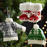 Knitted Dark grey Jumper Decoration