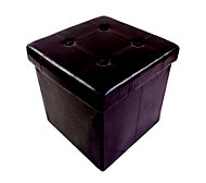 B&Q Brown 1 Drawer Storage ottoman cube (H)375mm (W)375mm (D)380mm