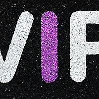 Colours VIP Black, purple & white Coir Door mat (L)0.75m (W)0.45m