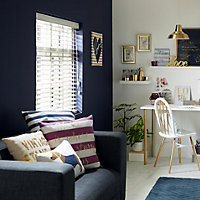 Navy & white Striped Cushion