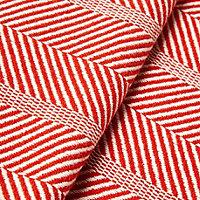 Red Herringbone Knitted Throw