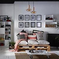 Chevron Black & cream Cushion