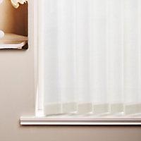 Isabella White Plain Vertical Blind (W)120cm (L)137cm