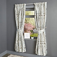 Evania Floral Duck egg Curtains