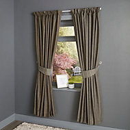 Enara Anthracite Pinstripe Lined Pencil pleat Curtains (W)167cm (L)183cm, Pair