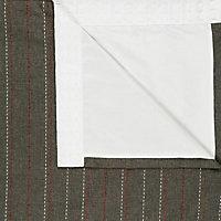 Enara Anthracite Pinstripe Lined Pencil pleat Curtains (W)228cm (L)228cm, Pair