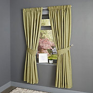 Candra Alep Herringbone Lined Pencil pleat Curtains (W)167cm (L)183cm, Pair