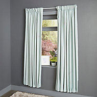 Durene Duck egg Plain Blackout Pencil pleat Curtains (W)167cm (L)183cm, Pair