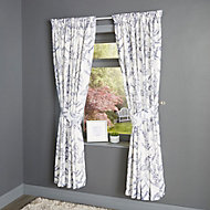 Charde Beige Meadow Lined Pencil pleat Curtains (W)228cm (L)228cm, Pair