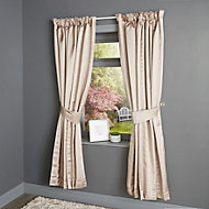 Endora Plain Lined Pencil pleat Curtains (W)117cm (L)137cm, Pair