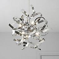 Heka Chrome effect 6 Lamp Pendant Ceiling light